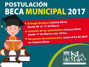 beca municipal 2017