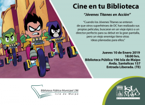 Cine en tu Biblioteca Jóvenes Titanes en Acción