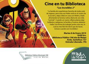 Cine en tu Biblioteca Los Increíbles 2