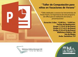 Taller de Computación Power Point Enero 2019